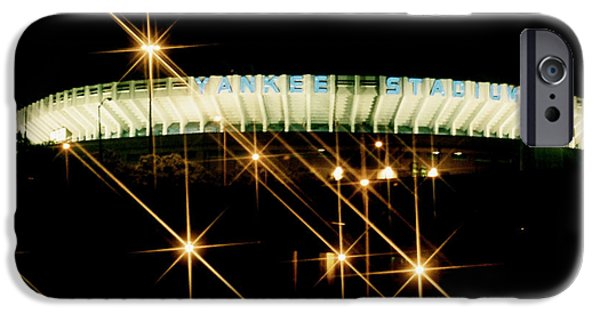 Collectible Mixed Media iPhone Cases - Bronx Night  Iv Yankee Stadium iPhone Case by Iconic Images Art Gallery David Pucciarelli