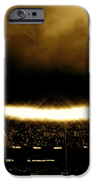 Photographs Tapestries - Textiles iPhone Cases - Bronx Storm Yankee Stadium  iPhone Case by Iconic Images Art Gallery David Pucciarelli