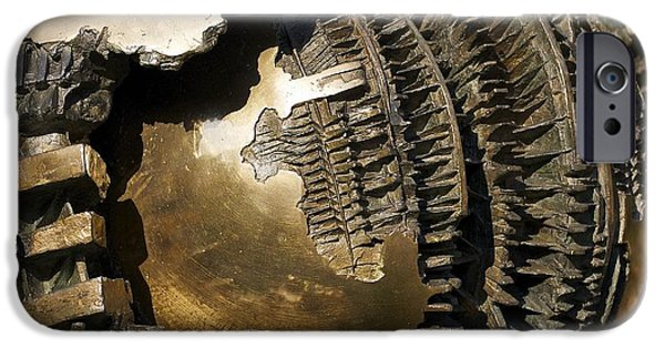 Recently Sold -  - Smithsonian iPhone Cases - Bronze Abstract iPhone Case by Stuart Litoff