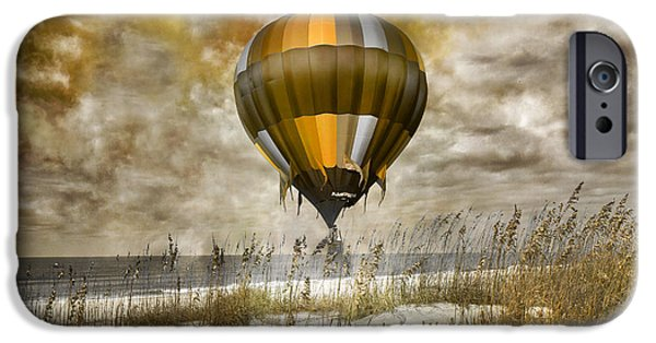 Cutler iPhone Cases - Bronze Beach Ballooning iPhone Case by Betsy A  Cutler