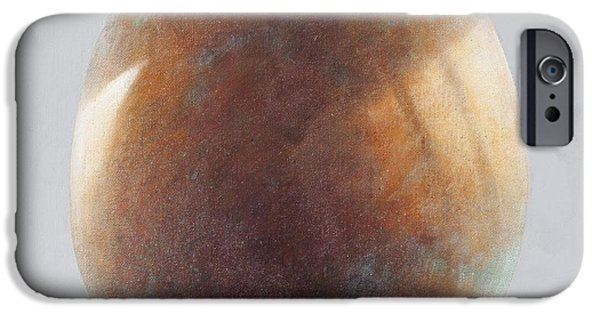 Bronze iPhone Cases - Bronze Egg, 2014 Oil On Canvas iPhone Case by Lincoln Seligman