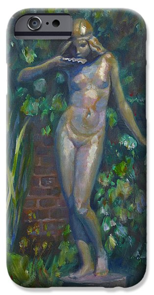 Greek Sculpture Paintings iPhone Cases - Bronze Figure iPhone Case by Sarah Parks