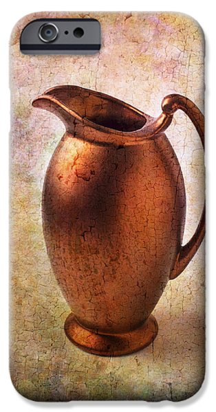 Bronze iPhone Cases - Bronze Pitcher iPhone Case by Garry Gay