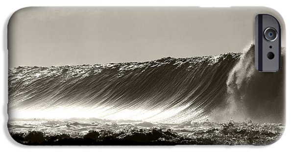 Big Wave iPhone Cases - Bronze Wall iPhone Case by Sean Davey