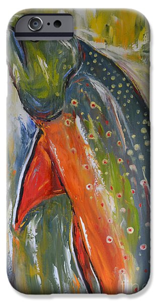 Wild Trout iPhone Cases - Brook Trout iPhone Case by Cher Devereaux