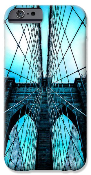 Cable iPhone Cases - Brooklyn Blues iPhone Case by Az Jackson