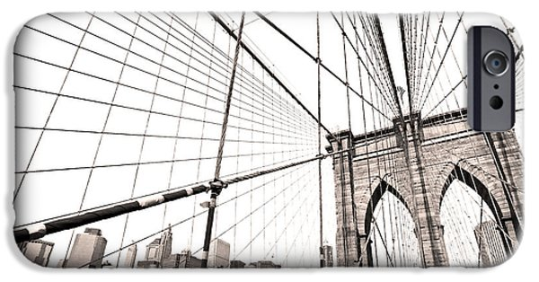 Empire State iPhone Cases - Brooklyn bridge - New York City iPhone Case by Luciano Mortula