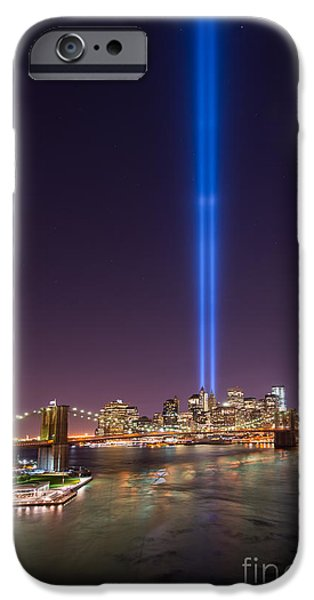 Manhatan iPhone Cases - Brooklyn Bridge 911 Vertical iPhone Case by Michael Ver Sprill