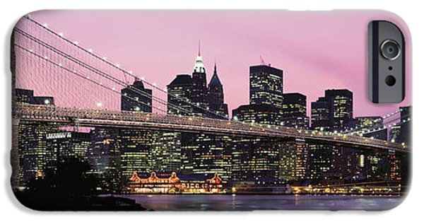 Connection iPhone Cases - Brooklyn Bridge Across The East River iPhone Case by Panoramic Images