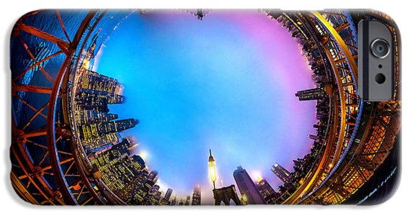 United Photographs iPhone Cases - Brooklyn Bridge Circagraph 3 iPhone Case by Az Jackson