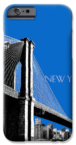 Empire State Digital iPhone Cases - Brooklyn Bridge iPhone Case by DB Artist