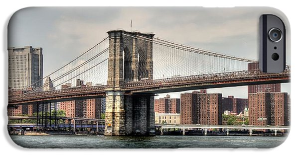 United iPhone Cases - Brooklyn Bridge iPhone Case by Debra Forand