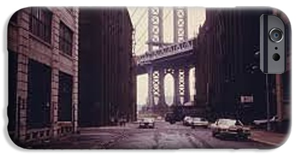 Empire State Pyrography iPhone Cases - Brooklyn Bridge iPhone Case by Frederick Lyle Morris