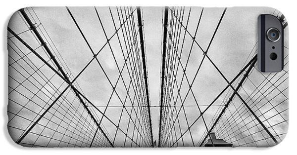 U.s.a. iPhone Cases - Brooklyn Bridge iPhone Case by John Farnan