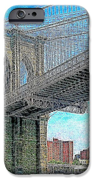 Brooklyn Bridge New York 20130426 iPhone Case by Wingsdomain Art and Photography