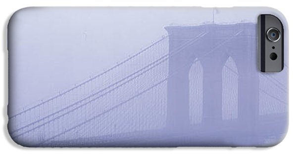Intrigue iPhone Cases - Brooklyn Bridge New York Ny iPhone Case by Panoramic Images