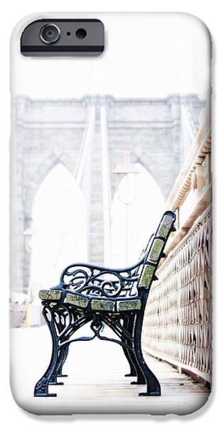 Monotone iPhone Cases - Brooklyn Bridge iPhone Case by Nishanth Gopinathan