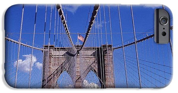Connection iPhone Cases - Brooklyn Bridge, Nyc, New York City iPhone Case by Panoramic Images