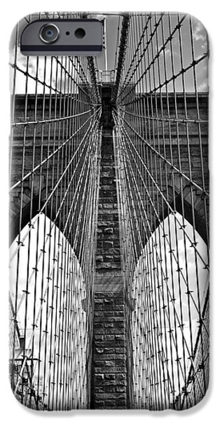 Consumerproduct iPhone Cases - Brooklyn Bridge New York City iPhone Case by Peter Dang