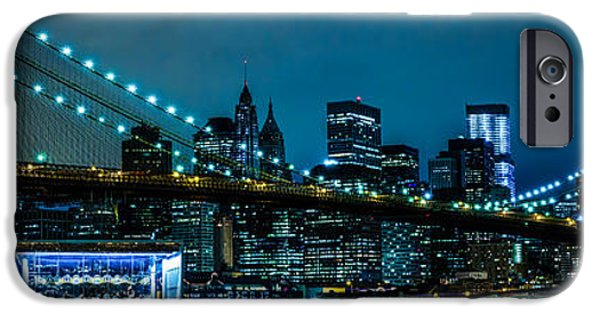 City Scape iPhone Cases - Brooklyn Bridge iPhone Case by Paul Tomlin