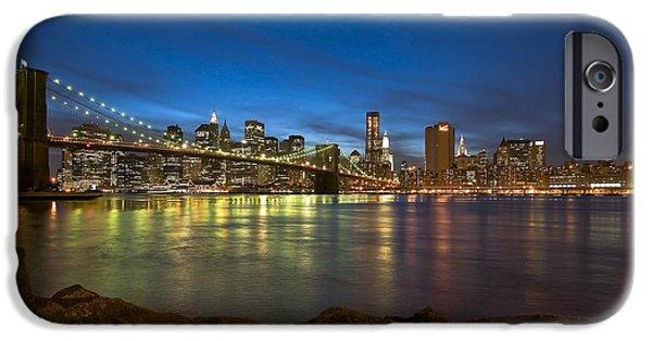 Nyc Rain iPhone Cases - Brooklyn Bridge iPhone Case by Svetlana Sewell