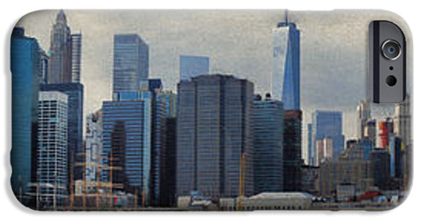 Drama iPhone Cases - Brooklyn Bridge to Whitehall Terminal iPhone Case by Paulette B Wright