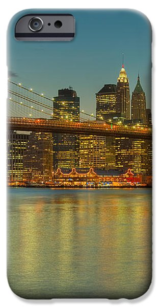 Brooklyn Bridge Twilight iPhone Case by Clarence Holmes