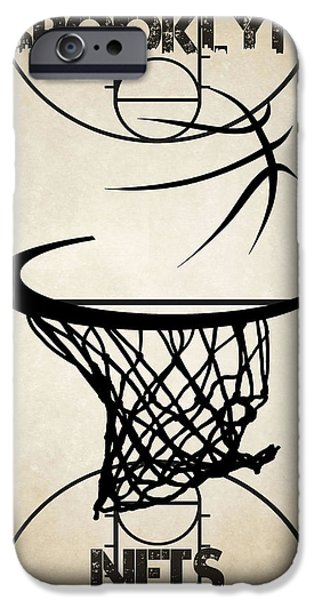 Dunk iPhone Cases - Brooklyn Nets Court iPhone Case by Joe Hamilton
