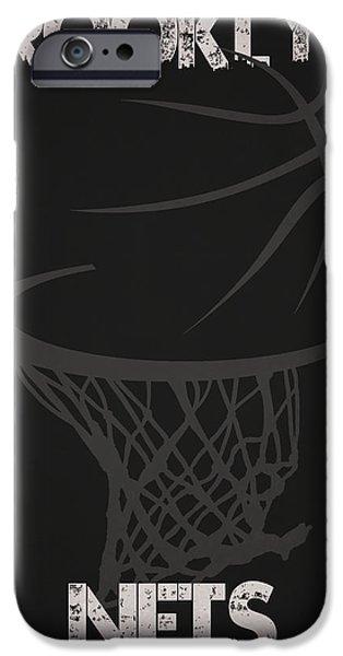 Nets iPhone Cases - Brooklyn Nets Hoop iPhone Case by Joe Hamilton
