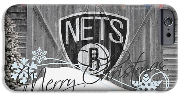 3 Pointer iPhone Cases - Brooklyn Nets iPhone Case by Joe Hamilton