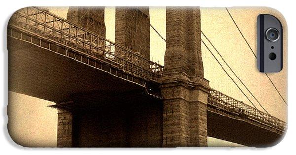 Brooklyn Bridge Digital iPhone Cases - Brooklyn Nostalgia iPhone Case by Jessica Jenney