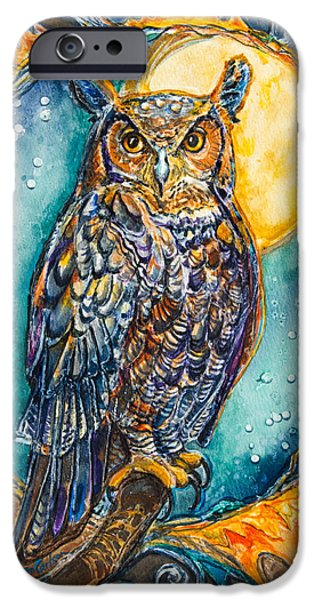 Sweat iPhone Cases - Brother Owl iPhone Case by Patricia Allingham Carlson