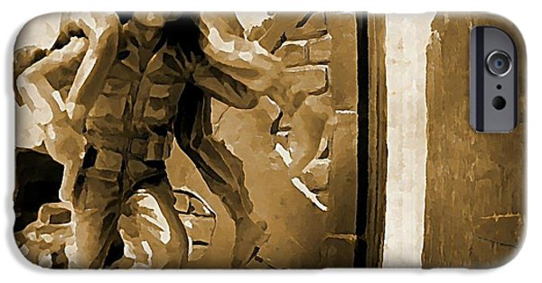 Halifax Art Work iPhone Cases - Brothers in Arms iPhone Case by John Malone