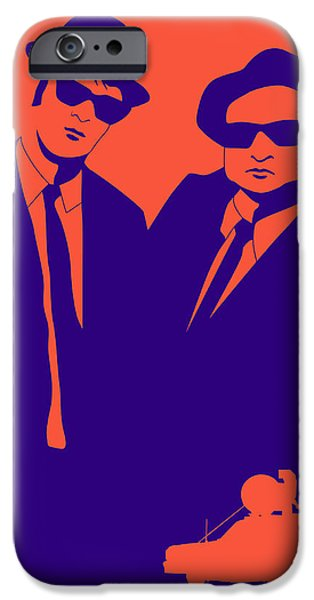 Brother iPhone Cases - Brothers Poster iPhone Case by Naxart Studio