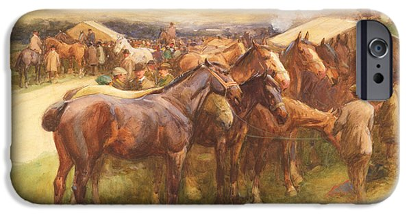 The Horse iPhone Cases - Brough Hill iPhone Case by John Atkinson