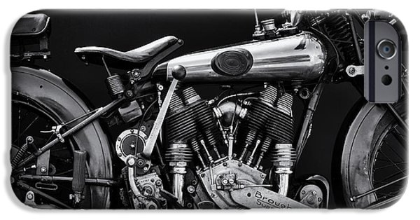 Monochrome iPhone Cases - Brough Superior iPhone Case by Tim Gainey