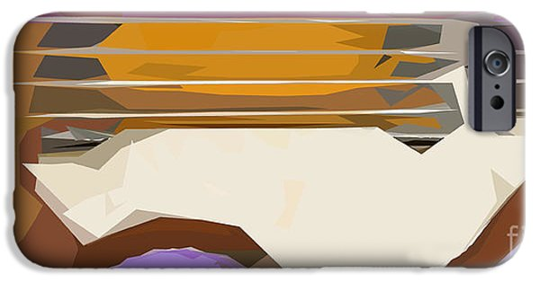 Hofner iPhone Cases - Brown Bass Purple Background 3 iPhone Case by Pablo Franchi