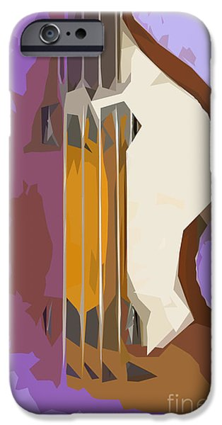 Hofner iPhone Cases - Brown Bass Purple Background iPhone Case by Pablo Franchi