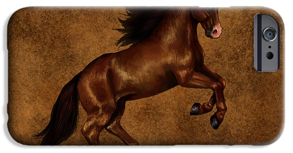 Horses iPhone Cases - Brown Beauty iPhone Case by Marvin Blaine