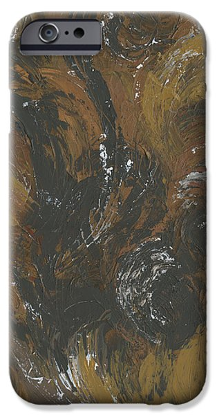 Brown Color of Energy iPhone Case by Ania Milo