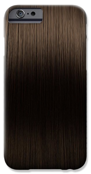 Hairstyle iPhone Cases - Brown Hair Perfect Straight iPhone Case by Allan Swart