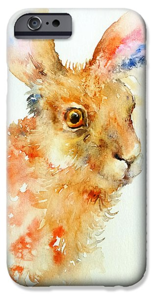 Brown Hare iPhone Cases - Brown Sugar_I iPhone Case by Arti Chauhan