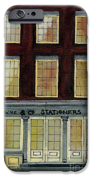 Printmaking iPhone Cases - Browne and Co Stationiers at No. 32 iPhone Case by Cathy Peterson