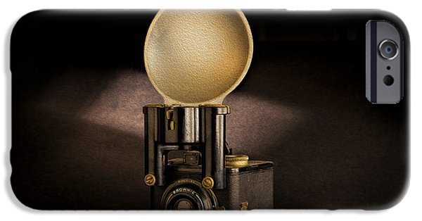 Antiques iPhone Cases - Brownie Flash Six-20 Circa 1946-1955 iPhone Case by Peter Tellone
