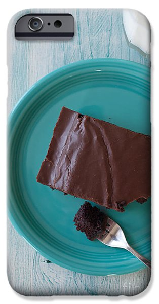 Brownie iPhone Cases - Brownie for Breakfast iPhone Case by Kay Pickens