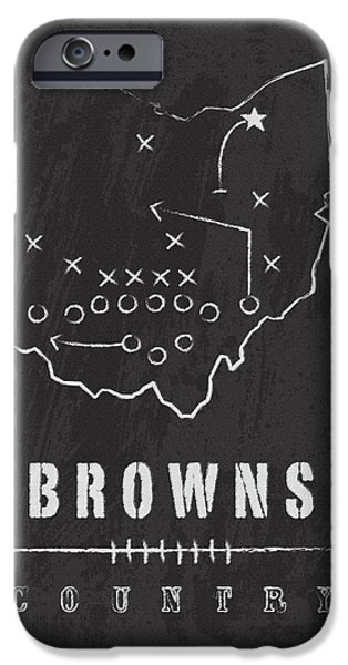 Graphic Design iPhone Cases - Browns Country 2 iPhone Case by Damon Gray