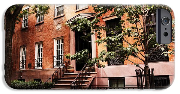 Home iPhone Cases - Brownstones of Greenwich Village iPhone Case by Jessica Jenney