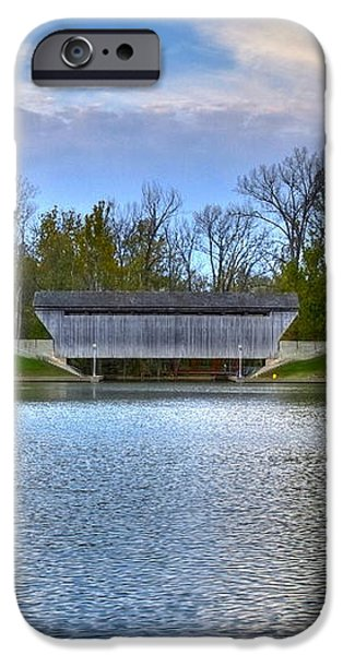 Brownsville Covered bridge iPhone Case by Jack R Perry