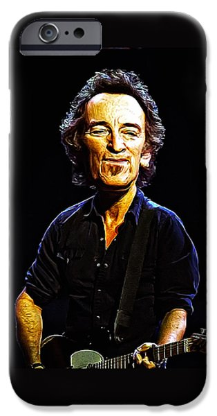 E Street Band iPhone Cases - Bruce iPhone Case by Bill Cannon
