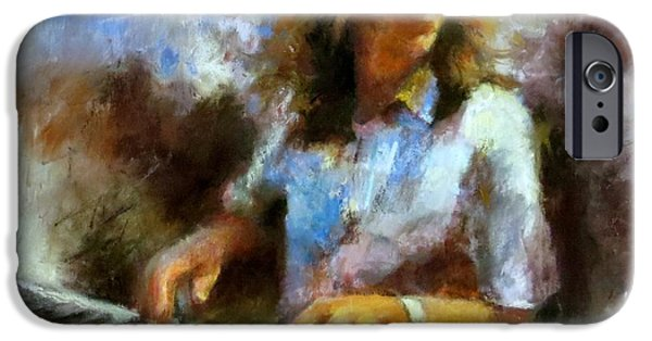 Piano Pastels iPhone Cases - Bruce Katz iPhone Case by Christine Vitarello